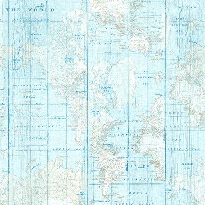 Home Decor - World map Blue