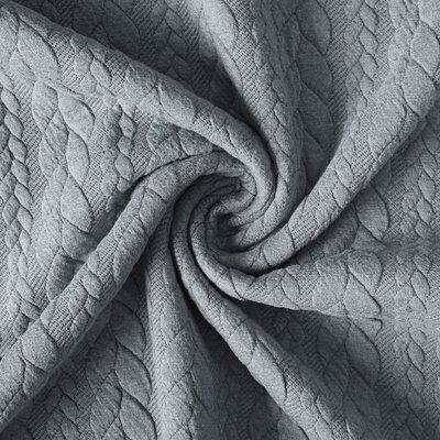 Jacquard Cable Knit - Light Grey