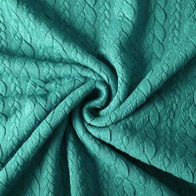 Jacquard Cable Knit - Sea Green