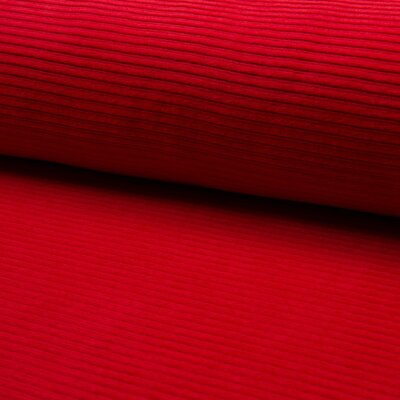 Jersey Corduroy- Red