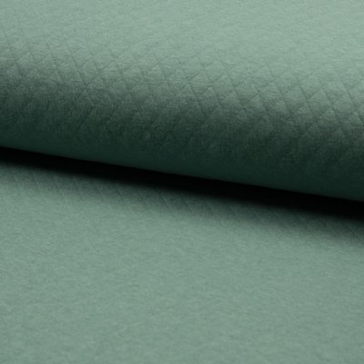 Quilted Jersey Cotton Diamond - Dusty Mint