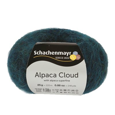 Knitting Yarn - Alpaca Cloud - Peacock 00069
