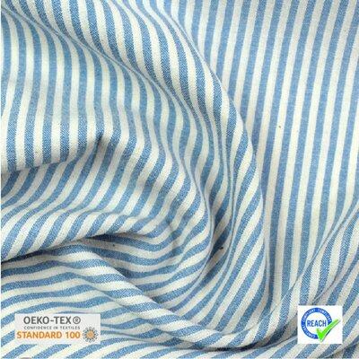 Lightweight Cotton Viscose - Raytis Bleu