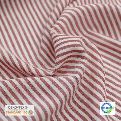 Lightweight Cotton Viscose - Raytis Rouge