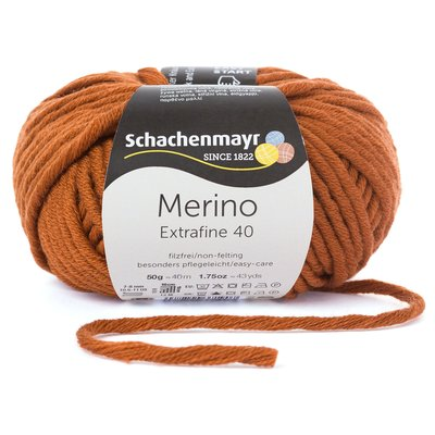 Merino Wool Yarn - Extrafine 40 Terra 00310