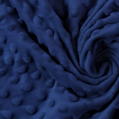 Minky Dot Fleece Fabric - Navy Blue