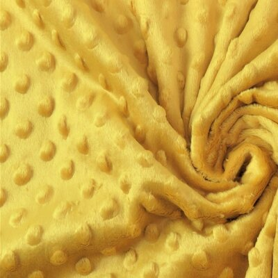 Minky Dot Fleece Fabric - Ochre