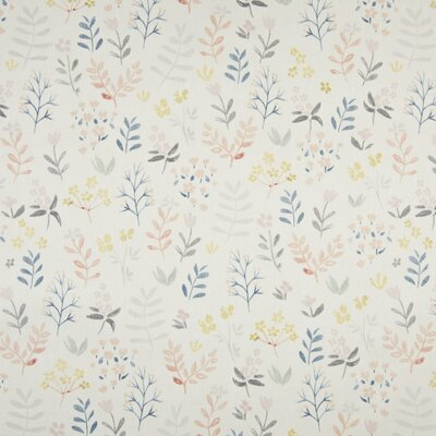 Organic Poplin Printed- Flowers Off White