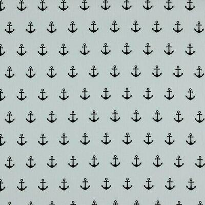 Printed Cotton - Anchor White Navy
