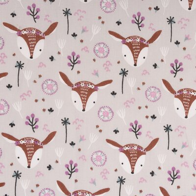 Printed Cotton - Louna Greige