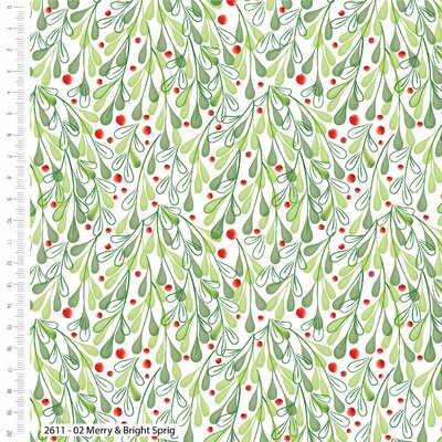 Printed Cotton - Merry & Bright Berry