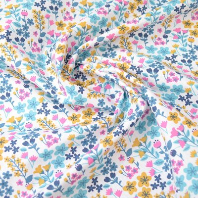 Printed Cotton - Milly Turquoise