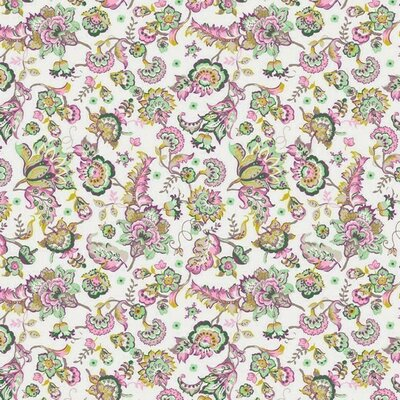 Printed Cotton - Paisley Flower Ivory