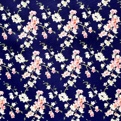 Printed Cotton poplin - Cherry Blossom Navy