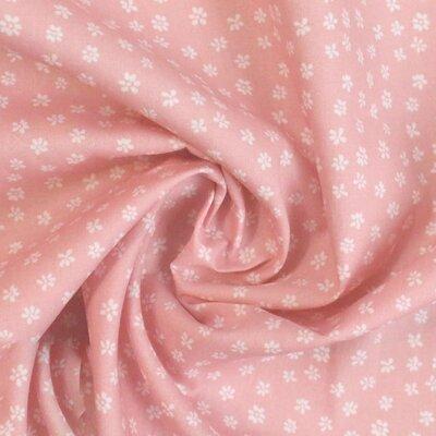Printed Cotton poplin - Ditsy Salmon