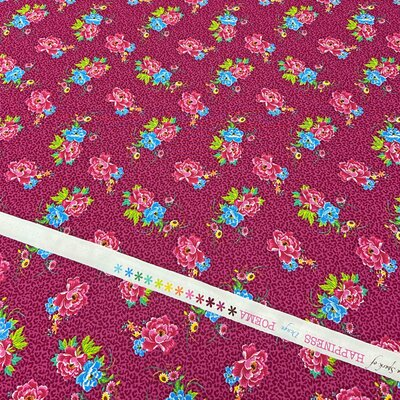 Printed Cotton poplin - Poema Cerise