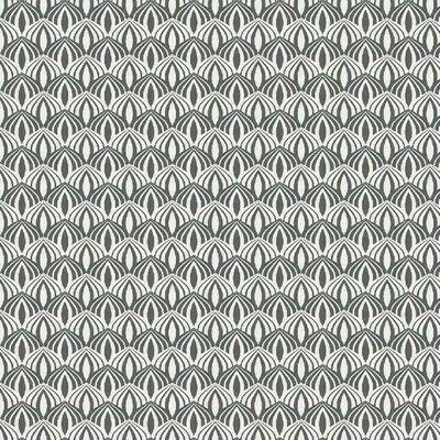 Printed Cotton poplin - Scallop Grey