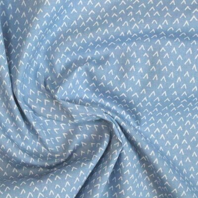 Printed Cotton poplin - Ticks Blue