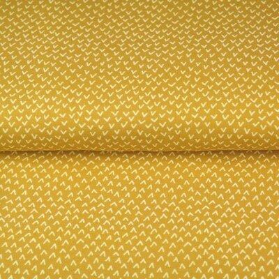 Printed Cotton poplin - Ticks Ochre