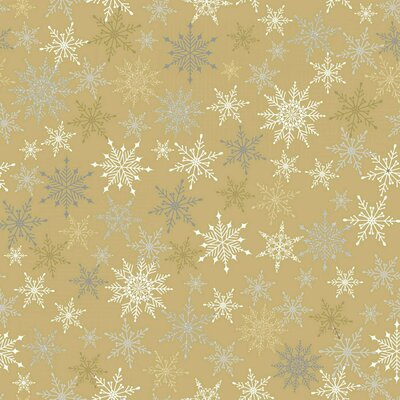 Printed Cotton - Sparkle Glitter Snowflake