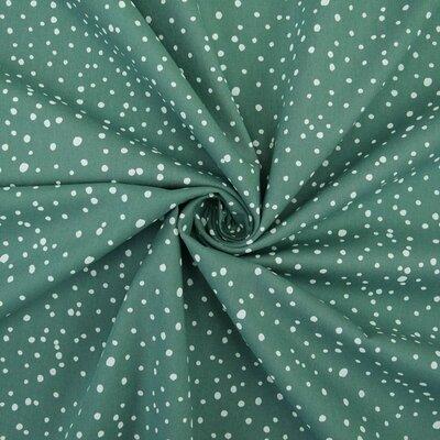 Printed Poplin Dots Dusty Mint