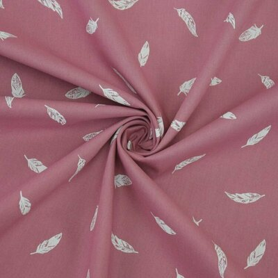 Printed Poplin Feather Old Rose