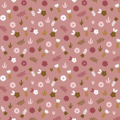 Printed Poplin - Floral Blush