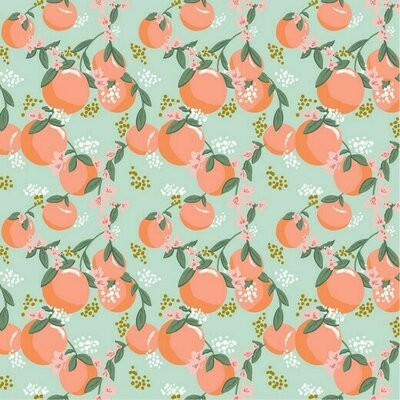 Printed Poplin - Tasty Fruit Mint