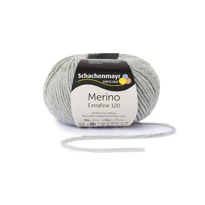 Wool Yarn - Merino Extrafine 120 Light grey 00190