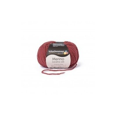 Wool yarn - Merino Extrafine 120 Marsala 00128
