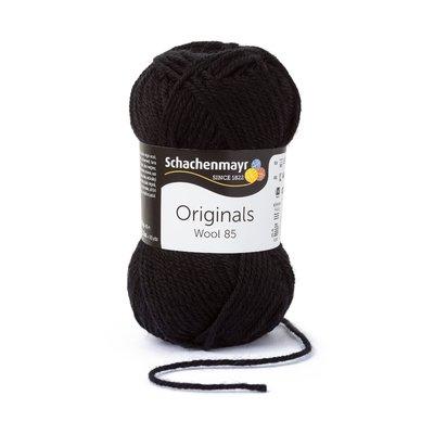 Wool Yarn Wool85 - Black 00299