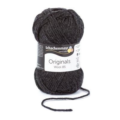 Wool Yarn Wool85 - Dark Grey Melange 00297