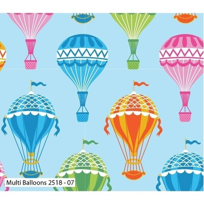 Bumbac Imprimat - Balloons Multicolor