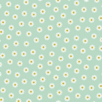 Bumbac imprimat - Daisy Flower Mint