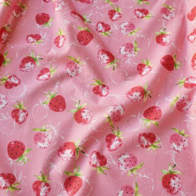 Bumbac imprimat digital - Fraise Pink