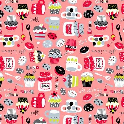Bumbac imprimat digital - Petit Sucre Pink