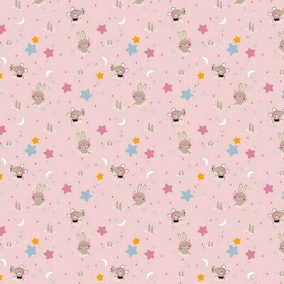 Bumbac imprimat - Glitter Animals Rose