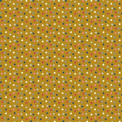Bumbac imprimat - Happy Feeling Dots Ochre
