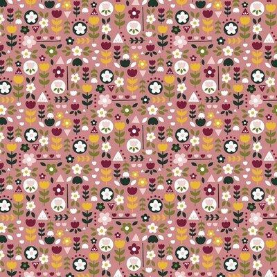 Bumbac imprimat - Happy Feeling Rose
