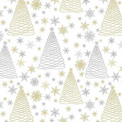 Bumbac Imprimat - Sparkle Glitter Trees