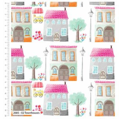 Bumbac imprimat - Townhouse