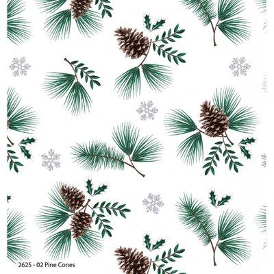 Bumbac Imprimat - Woodland Pine Cone