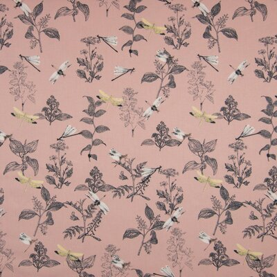 Bumbac organic imprimat - Dragonfly Rose
