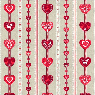 Material Canvas - Alps Hearts Red