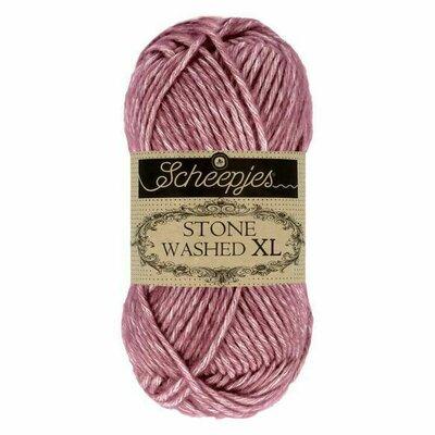 Fir bumbac melanj Stone Washed XL - Ruby 848
