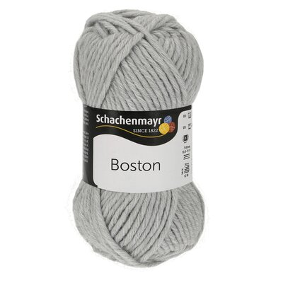 Fire lana si acril Boston- Light Grey 00090