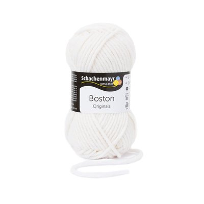 Fire lana si acril Boston-White 00101