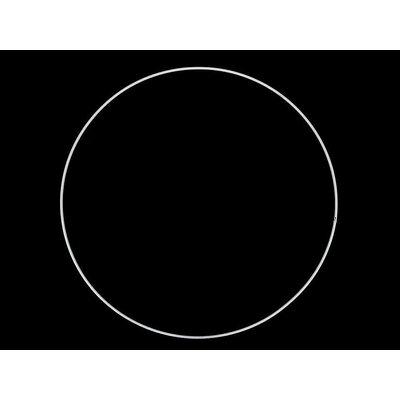 Inel metalic alb pentru decoratiuni - diametru 30 cm