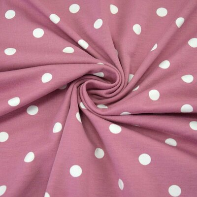 Jerse bumbac - Dots Old Rose