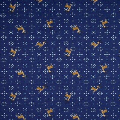Jerse Bumbac imprimat - Deer Navy